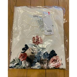 ポールアンドジョー(PAUL & JOE)のSサイズ ユニクロ ポール&ジョー ポールアンドジョー Tシャツ 猫 花柄(Tシャツ(半袖/袖なし))