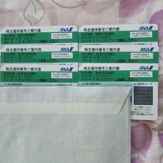 エーエヌエー(ゼンニッポンクウユ)(ANA(全日本空輸))のANA 株主優待制 6枚(航空券)