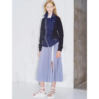 サカイラック(sacai luck)のサカイラックsacai luckプリーツスカート水色サイズ1(ロングスカート)