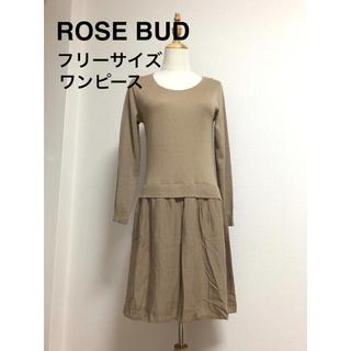 ローズバッド(ROSE BUD)の値下 美品 ローズバッド ドッキングワンピース 送料込(ひざ丈ワンピース)