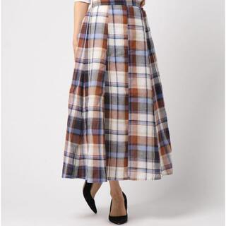ディスコート(Discoat)のDiscoat Parisien マドラスチェック ロング スカート(ロングスカート)