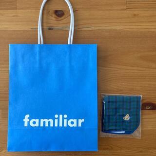 familiar - familiar ミニタオルハンカチとショップ袋。新品未使用。