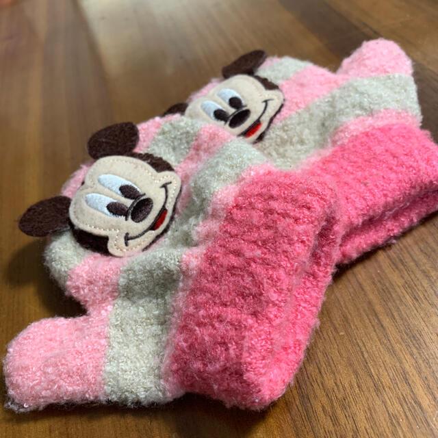 Disney(ディズニー)のディズニー ミッキー 子供用手袋 ピンク 2歳用 3歳用 キッズ/ベビー/マタニティのこども用ファッション小物(手袋)の商品写真