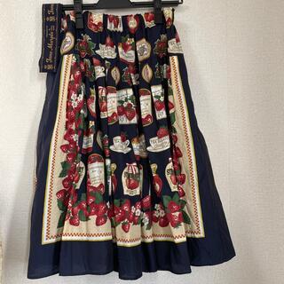 ジェーンマープル(JaneMarple)のJane Marple ストロベリーラベルスカーフ タックスカート(ひざ丈スカート)