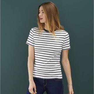 PETIT BATEAU - マリニエールクルーネック半袖Tシャツ petit bateau xsサイズ