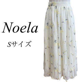 ノエラ(Noela)のNoela♡小花ブーケ刺繍ロングスカート♡Sサイズ♡イエロー(ロングスカート)