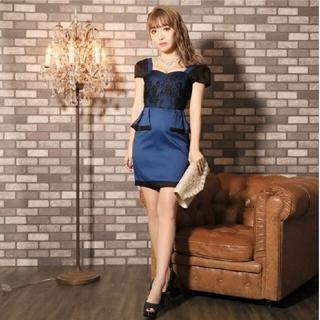 dazzy store - ウエストリボンジョーゼットタイトミニドレス