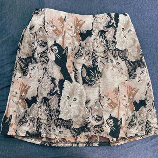 シマムラ(しまむら)のスカート 猫柄(ミニスカート)
