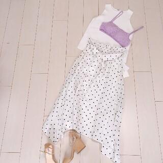 Mila Owen - 大人可愛いホワイトコーデ♡ミラオーウェンノースリーブリネンスカート