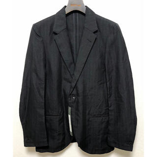 イサムカタヤマバックラッシュ(ISAMUKATAYAMA BACKLASH)の新品バックラッシュ18SSラミー100%+カンガルーレザー1Bジャケット黒S(テーラードジャケット)