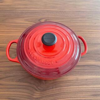 ルクルーゼ(LE CREUSET)の[大幅値下げ中]シグニチャーココット・ロンド(20cm)(鍋/フライパン)