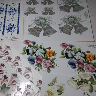 激安 ポーセラーツ転写紙8枚セット (オマケ付)(各種パーツ)