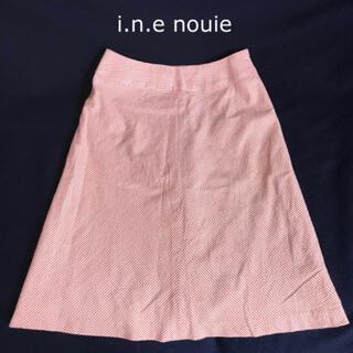 インエ(i.n.e)のインエヌイ i.n.e nouie  Aライン スカート レディース インエ(ひざ丈スカート)