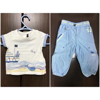 半袖Tシャツ 長ズボン セット 74cm(Tシャツ)