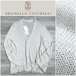 BRUNELLO CUCINELLI - B29★新品 極上サマーカーディガン ブルネロクチネリ シルク リネン L