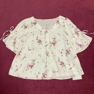 Rirandture - 新品未使用 リランドチュール 小花柄ブラウストップススカート白ホワイトワンピース