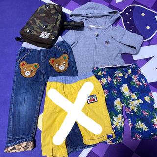 ダブルビー(DOUBLE.B)のミキハウス ダブルB パーカー、パンツ100ワンショルダーバッグ(パンツ/スパッツ)
