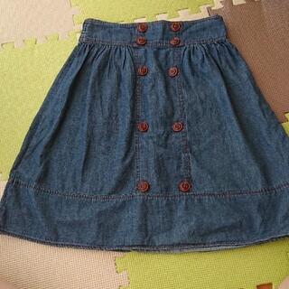 グローブ(grove)のデニムスカート グローブ サイズM(ひざ丈スカート)