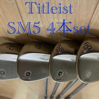 タイトリスト(Titleist)のタイトリスト SM5 4本セットゴールドニッケル(クラブ)