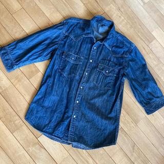 アベイル(Avail)のデニムシャツ 七分袖  L(シャツ)