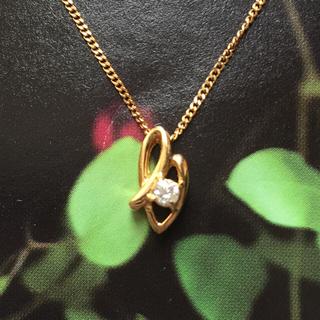 ✨18金ネックレスダイヤ付き✨(ネックレス)