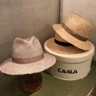 カシラ(CA4LA)のお値下げ中【CA4LA】ストローハット【新品未使用】(麦わら帽子/ストローハット)