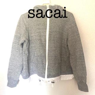 sacai luck - sacailack デザインパーカー