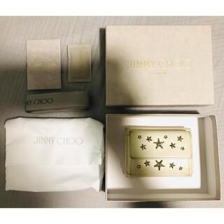 ジミーチュウ(JIMMY CHOO)のJIMMY CHOO ホワイト 折りたたみ財布 ミニウォレット(財布)