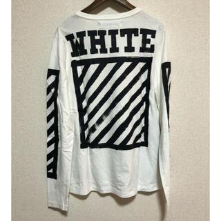 オフホワイト(OFF-WHITE)のOFF WHITE Virgil オフホワイト プリント ロングスリーブtシャツ(Tシャツ/カットソー(半袖/袖なし))