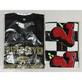 AAA 777 TRIPLE SEVEN Tシャツ マフラータオル 黒 西島