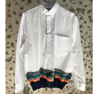 kolor - 新品 カラービーコン kolor ホワイトシャツ1