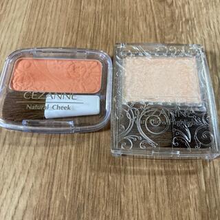 セザンヌケショウヒン(CEZANNE(セザンヌ化粧品))の美品✴︎セザンヌチーク&ハイライターのセット!(チーク)