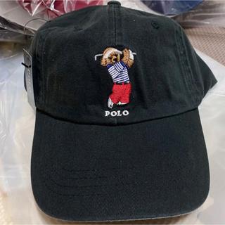 POLO RALPH LAUREN - 【大人気】ポロ ラルフローレンキャップ 帽子 ブラック ゴルフ ポロベアキャップ