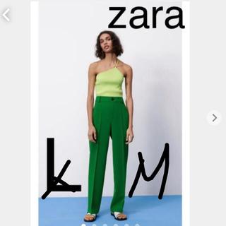 ザラ(ZARA)のZARA フルレングスパンツ 緑 グリーン(その他)