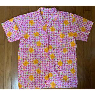 ディズニー(Disney)のディズニー パジャマ レディース L くまのプーさん ピグレット 半袖 上のみ(パジャマ)
