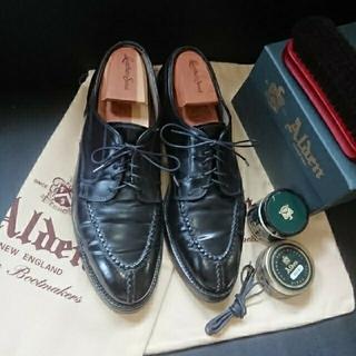 オールデン(Alden)の【美品】オールデンNSTブラックコードバン10C(ドレス/ビジネス)