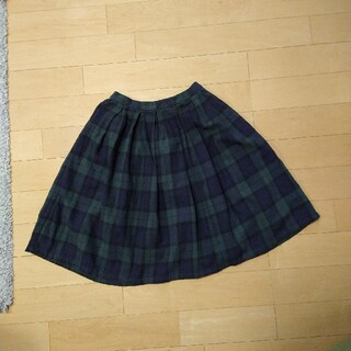 スタディオクリップ(STUDIO CLIP)のスタジオクリップ コットンリネン ブラックウォッチ スカート(ひざ丈スカート)