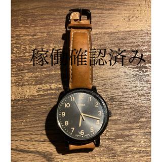 TIMEX - TIMEX 茶革ベルト腕時計(稼働確認済み)