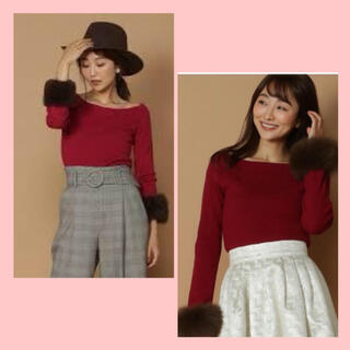 アンドクチュール(And Couture)のアンドクチュール 袖ファーニット(ニット/セーター)