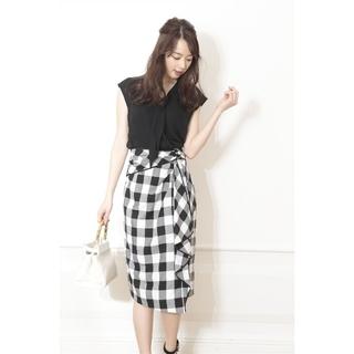 JUSGLITTY - ジャスグリッティー  配色パイピングデザインタイトスカート