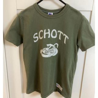 ショット(schott)のschott Tシャツ サイズS カーキ Russell(Tシャツ/カットソー(半袖/袖なし))