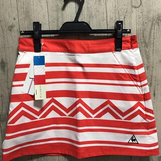 le coq sportif - 新品ルコック ゴルフウェア 小さいサイズ7 Sサイズ 春夏オレンジ白