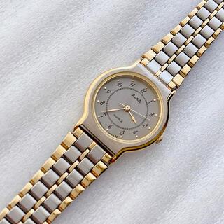 アルバ(ALBA)のALBA レディースクォーツ腕時計 稼動品 グレー文字盤(腕時計)