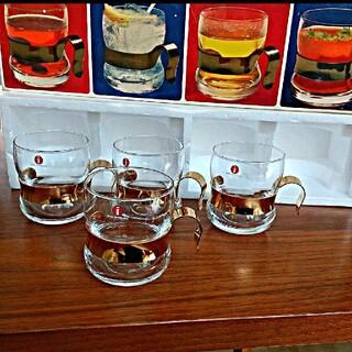 イッタラ(iittala)の希少 iittala Paula 耐熱グラス ゴールドホルダー (24kメッキ)(グラス/カップ)