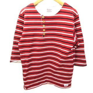 アナクロノーム(anachronorm)のアナクロノーム Tシャツ 七分袖 ヘンリーネック ボーダー カットソー 1 S(その他)
