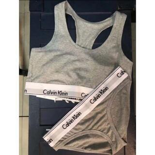 Calvin Klein - カルバンクライン レディース 上下セット 下着 S~Mサイズ 選択可 グレー