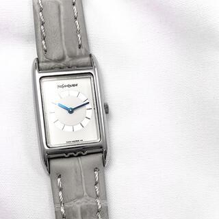 Yves Saint Laurent Beaute - 【OH済】イヴサンローラン スクエア シルバー レディース 腕時計
