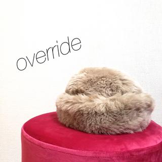 オーバーライド(override)のオーバーライド ファー 帽子(ハット)