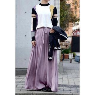 マメ(mame)のmame kurogouchi パープル ロングスカート サイズ2(ロングスカート)
