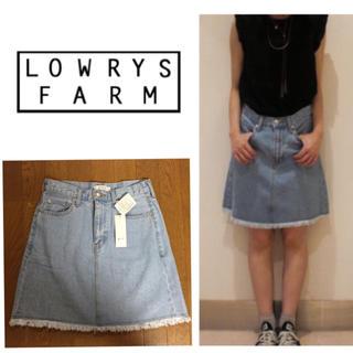 ローリーズファーム(LOWRYS FARM)のローリーズファーム❤️フリンジデニムSK(ミニスカート)